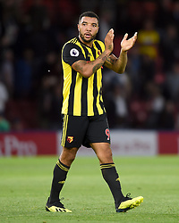Watford's Troy Deeney applauds the fans at the end of the match