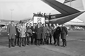Rugby 1965 - 11/03 Irish Team leave Dublin Airport for Cardiff