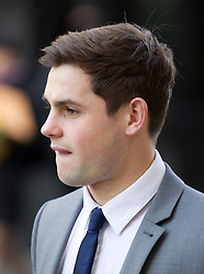 © Licensed to London News Pictures. 07/02/2013. London, UK. Brighton and Hove Albion football player George Barker, 21, is seen arriving at the Old Bailey in London today (07/02/13) where he and four other players are facing charges of sexual assault. Photo credit: Matt Cetti-Roberts/LNP