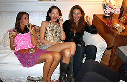 Left to right, MARINA HANBURY, the HON.SOPHIA HESKETH and ROSE HANBURY at a Conservative Party summer garden party hosted by Lord Hesketh and held at 7 Lansdowne Road, Notting Hill, London W11 on 28th June 2004.