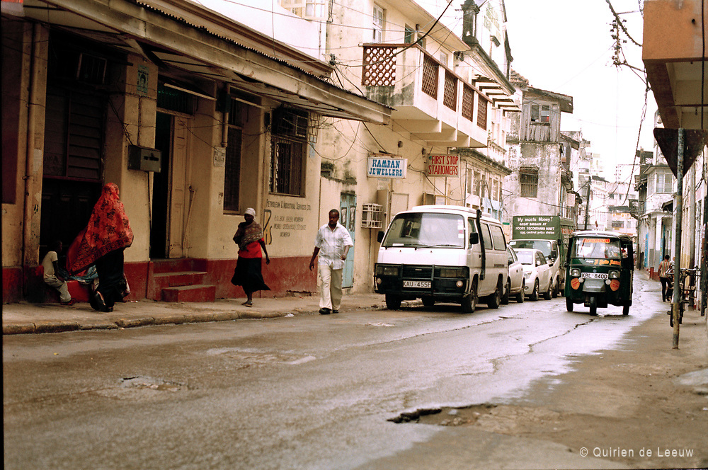 A street in Mombasa, the second largest city of Kenya