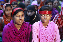 April 30, 2017 - Dhaka, Bangladesh - Bangladeshi garments workers gather in a torch light rally ahead of May Day in Dhaka, Bangladesh, April 30, 2017. (Credit Image: © Suvra Kanti Das via ZUMA Wire)