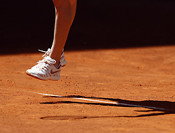May 9, 2019 - Madrid, Madrid, Spain - Feet of Belinda Bencic, Switzerland seen in action against Naomi Osaka of Japan during day six of the Mutua Madrid Open at La Caja Magica in Madrid, Spain. (Credit Image: © Manu Reino/SOPA Images via ZUMA Wire)