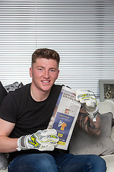 Brechin City goalkeeper Lewis McMinn at home today, after he scored a goal from 90 yards against Stirling Albion yesterday.