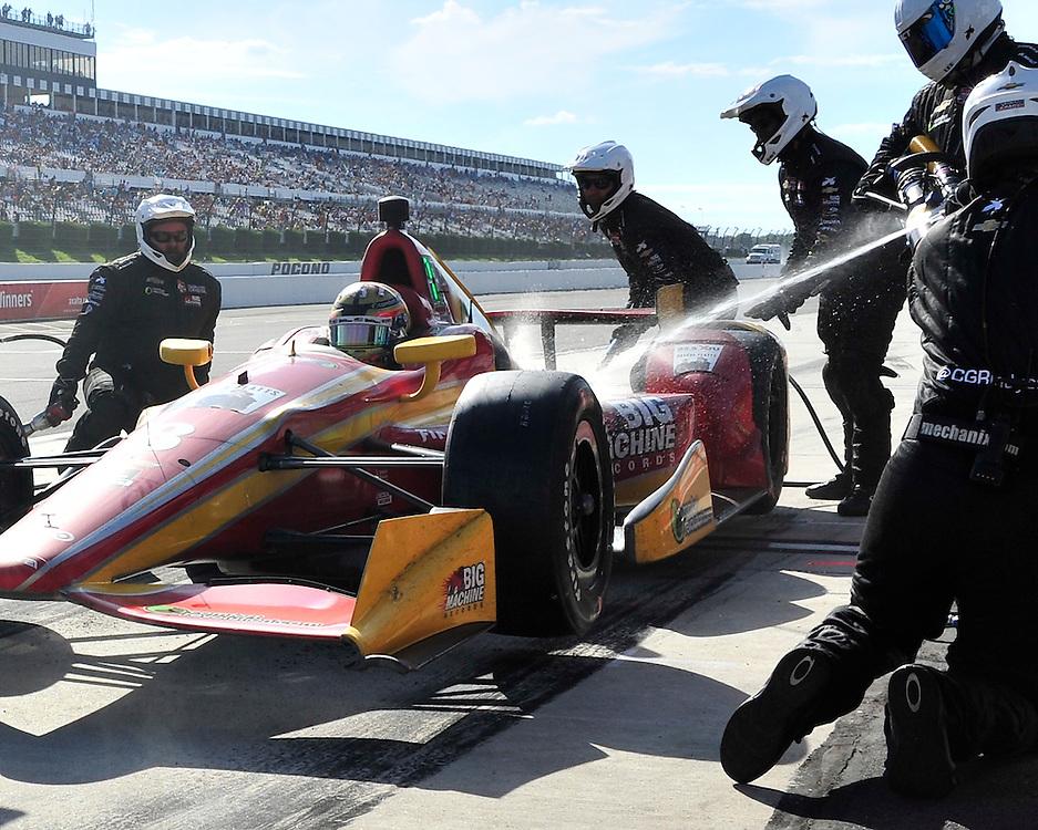 Sage Karam injured in a crash on August 23rd, 2015, at Pocono Raceway in Long Pond. (Chris Post   lehighvalleylive.com)