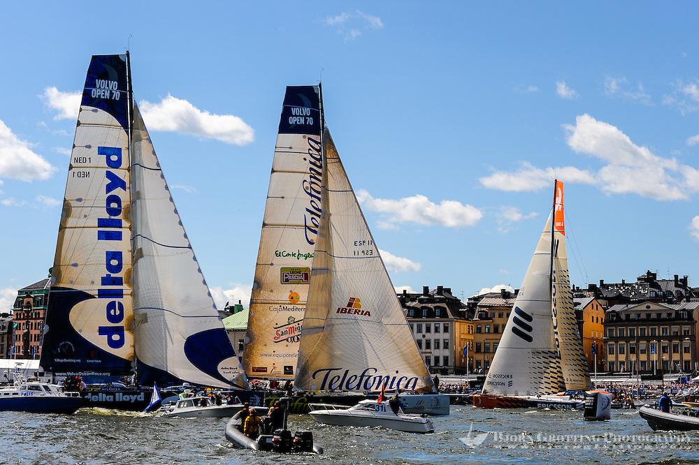 Sweden, Stockholm. Volvo Ocean Race 2008-2009 stopover in Stockholm.