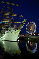 """The Nippon Maru with the gracious nickname """"Swan of the Pacific Ocean"""" was built in Kobe in 1930 and originally a training ship for the cadets of the Japanese merchant marine. After 54 years of service, the ship was brought to the Yokohama harbor and opened as a part of the Maritime Museum."""