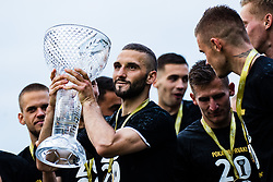 Nino Kouter of NS Mura  with trophy after winning final match of Slovenian footaball cup for season 2019/202 between team NK Nafta 1903 and NS Mura, Bro pri Kranju on 24 June 2020, Kranj, Slovenia. Photo by Grega Valancic / Sportida