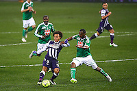 Martin Braithwaite / Kevin Theophile Catherine - 28.02.2015 - Toulouse / Saint Etienne - 27eme journee de Ligue 1 -<br />Photo : Manuel Blondeau / Icon Sport