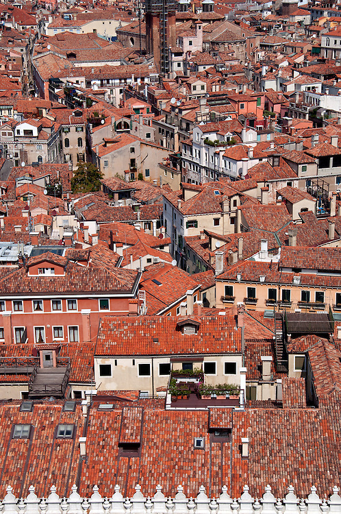 A view of the Venetian rooftops.