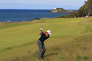 Lorenzo Gagli (ITA) on the 4th during Round 4 of the Aberdeen Standard Investments Scottish Open 2019 at The Renaissance Club, North Berwick, Scotland on Sunday 14th July 2019.<br /> Picture:  Thos Caffrey / Golffile<br /> <br /> All photos usage must carry mandatory copyright credit (© Golffile | Thos Caffrey)