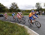 France, VEIGNE , 11 October 2009: Vincent Dauga, Entente Sud-Gascogne (ESG), leads the race up the Côte de Crochu climb in the Paris Tours Espoirs cycle race. Dauga would finish the race in 4th place. Photo by Peter Horrell / http://peterhorrell.com.