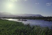 Outrigger Canoe, Hanalei River, Hanalei, Kauai, Hawaii<br />