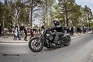 Springmeet 2019, Östersund - 18 MAJ 2019: Motorcyklar och bilar trängdes på kvällens cruising. (Foto: Per Danielsson/Projekt.P ) <br /> <br /> Nyckelord Keywords: Springmeet 2019, Crusing,