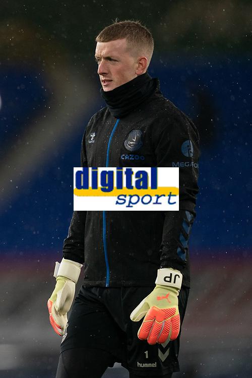 Football - 2020 / 2021 League Cup - Quarter-Final - Everton vs Manchester United - Goodison Park<br /> <br /> <br /> Everton Jordan Pickford<br /> <br /> COLORSPORT/TERRY DONNELLY