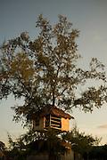 A tree house in Koh Rong Island, Kingdom of Cambodia. PHOTO TIAGO MIRANDA