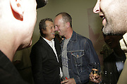 MARIO TESTINO AND JOHNNIE SHAND KYDD,  Johnnie Shand Kydd:  book launch party celebrate the publication of Crash.White Cube. Hoxton sq. London. 18 September 2006. ONE TIME USE ONLY - DO NOT ARCHIVE  © Copyright Photograph by Dafydd Jones 66 Stockwell Park Rd. London SW9 0DA Tel 020 7733 0108 www.dafjones.com