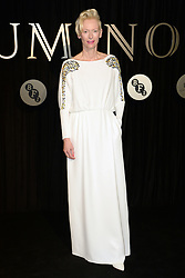 Tilda Swinton attending the BFI's Luminous fundraising gala, held at the Guildhall, London. Picture date: Tuesday October 3rd, 2017. Photo credit should read: Doug Peters/EMPICS Entertainment