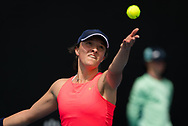 Iga Swiatek of Poland in action during her first round match at the 2020 Australian Open, WTA Grand Slam tennis tournament on January 22, 2020 at Melbourne Park in Melbourne, Australia - Photo Rob Prange / Spain ProSportsImages / DPPI / ProSportsImages / DPPI