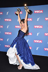 Camila Cabello poses backstage at the 2018 MTV Video Music Awards Press Room at Radio City Music Hall on August 20, 2018 in New York City. Photo by Lionel Hahn/ABACAPRESS.COM