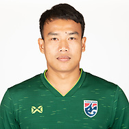 THAILAND - MARCH 18: Chatchai Bootprom of Thailand National Football Team Photoshoot on March 18, 2019.<br /> .<br /> .<br /> .<br /> (Photo by: Naratip Golf Srisupab/SEALs Sports Images/MB Media Solutions)