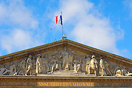 Paris - France - National Assembly .<br /> <br /> Visit our FRANCE HISTORIC PLACES PHOTO COLLECTIONS for more photos to download or buy as wall art prints https://funkystock.photoshelter.com/gallery-collection/Pictures-Images-of-France-Photos-of-French-Historic-Landmark-Sites/C0000pDRcOaIqj8E