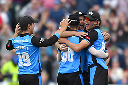 Worcestershire Rapids celebrates winning the Vitality T20 Blast Semi Final match on Finals Day at Edgbaston, Birmingham.