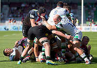 Rugby Union -2020/2021 Gallagher Premiership - Round 22 -<br />Harlequins vs Newcastle Falcons - The Stoop<br /><br />Harlequins vs Newcastle Falcons the last game of the Gallagher Premiership Season 2021/2021