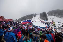 Supporters during 1st run of Men's Slalom race of FIS Alpine Ski World Cup 57th Vitranc Cup 2018, on March 4, 2018 in Kranjska Gora, Slovenia. Photo by Urban Urbanc / Sportida