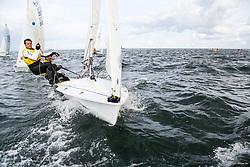 , Kiel - SAP 505er World Championship 2014, 505er, FRA 9075, Philippe BOITE, Erwan GROSSMANN, CVSQ
