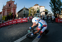 Francesco Reda (ITA) of Androni-Ciocattoli competes during amateur Hervis Time Trial at Stage 1of  cycling race 20th Tour de Slovenie 2013 - Time Trial 8,8 km in Ljubljana,  on June 12, 2013 in Slovenia. (Photo By Vid Ponikvar / Sportida)