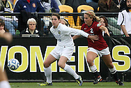 04 December 2011: Duke's Chelsea Canepa (22) and Stanford's Camille Levin (2). The Stanford University Cardinal defeated the Duke University Blue Devils 1-0 at KSU Soccer Stadium in Kennesaw, Georgia in the NCAA Division I Women's Soccer College Cup Final.