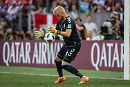 Goalkeeper Kasper SCHMEICHEL of Denmark during the 2018 FIFA World Cup Russia, Group C football match between Denmark and France on June 26, 2018 at Luzhniki Stadium in Moscow, Russia - Photo Thiago Bernardes / FramePhoto / ProSportsImages / DPPI