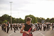 Shadow Armada performs their first show in Oregon, Wisconsin on June 24, 2015.