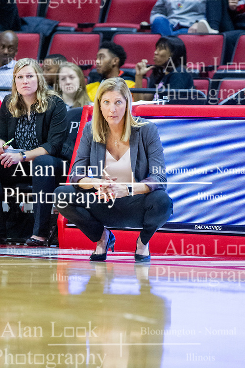 NORMAL, IL - January 03: Kristen Gillespie during a college women's basketball game between the ISU Redbirds and the Sycamores of Indiana State January 03 2020 at Redbird Arena in Normal, IL. (Photo by Alan Look)
