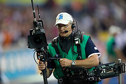 Cameraman during day eight of the 12th IAAF World Athletics Championships at the Olympic Stadium on August 22, 2009 in Berlin, Germany. (Photo by Vid Ponikvar / Sportida)