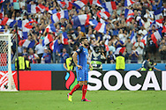 France Forward Olivier Giroud during the Group A Euro 2016 match between France and Romania at the Stade de France, Saint-Denis, Paris, France on 10 June 2016. Photo by Phil Duncan.