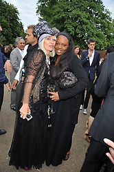 Left to right, VIRGINIA BATES and  at the annual Serpentine Gallery Summer Party sponsored by Canvas TV  the new global arts TV network, held at the Serpentine Gallery, Kensington Gardens, London on 9th July 2009.