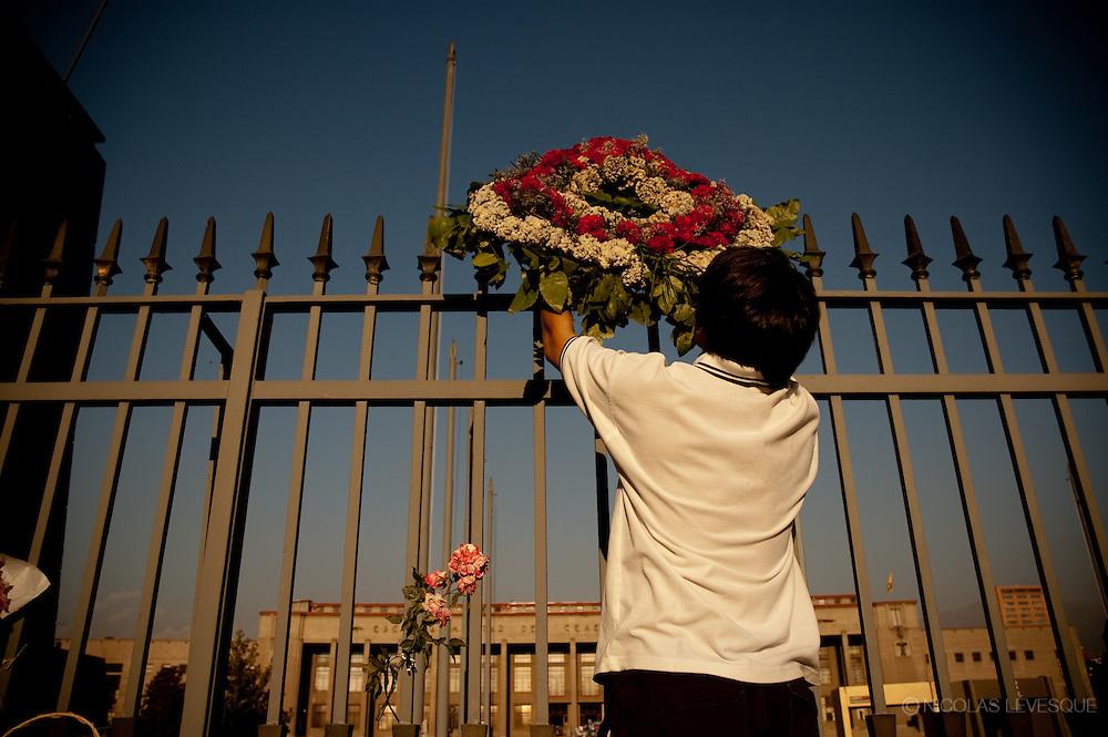 Pinochet vient de mourir. Santiago, Chili 2006.