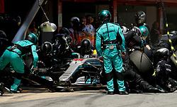 May 14, 2017 - Barcelona, Spain - Motorsports: FIA Formula One World Championship 2017, Grand Prix of Spain, ..#44 Lewis Hamilton (GBR, Mercedes AMG Petronas F1 Team) (Credit Image: © Hoch Zwei via ZUMA Wire)