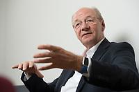 09 AUG 2016, BERLIN/GERMANY:<br /> Josef Janning, Head of office und Senior Policy Fellow, European Council on Foreign Relations, waehrend einem Interview, ECFR Berlin Office<br /> IMAGE: 20160809-01-021