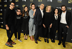January 16, 2018 - Los Angeles, CA, United States - Cast members arriving at the premiere of Pop TV's 'Schitt's Creek' season 4 at ArcLight Hollywood on January 16, 2018 in Hollywood, California  (Credit Image: © Peter West/Ace Pictures via ZUMA Press)