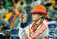LEIPZIG (Duitsland) - Supporters Oranje, Nederlands  WK zaalhockey. FOTO KOEN SUYK