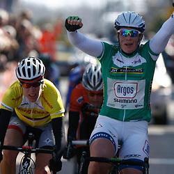 Energiewachttour Stage 5 Uithuizen Kirsten Wild wins 5th stage in Uithuizen 2nd Ellen van Dijk and 3th Adrie Visser
