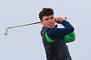 Odhran Maguire (Slieve Russell) on the 4th tee during Round 3 of The West of Ireland Open Championship in Co. Sligo Golf Club, Rosses Point, Sligo on Saturday 6th April 2019.<br /> Picture:  Thos Caffrey / www.golffile.ie