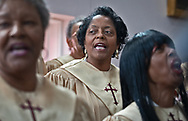 Sharon Lavigne, founder of Rise St. James,  at Geraldine Mayho's funeral.