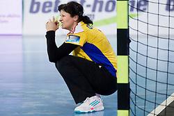 Luminita Dinu of Valcea during handball match between RK Krim Mercator and CS Oltchim RM Valcea (ROU) of Women's EHF Champions League 2011/2012, on February 4, 2012 in Arena Stozice, Ljubljana, Slovenia. Valcea defeated Krim 31-25. (Photo By Vid Ponikvar / Sportida.com)