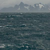 The storm-tossed South Atlantic Ocean encircles South Georgia, Antarctica.