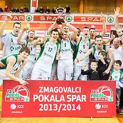 20140208: SLO, Basketball - Final match of Slovenian Spar Cup, KK Union Olimpija vs KK Krka