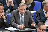 14 FEB 2019, BERLIN/GERMANY:<br /> Leif-Erik Holm, MdB, AfD, Bundestagsdebatte, Plenum, Deutscher Bundestag<br /> IMAGE: 20190214-01-035<br /> KEYWORDS: Bundestag, Debatte